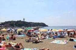 湘南・鎌倉の海水浴場:片瀬西浜・鵠沼海水浴場