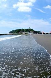 江ノ島片瀬海岸東浜からの海