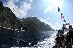 御蔵島の周囲でイルカを探しドルフィンスイム
