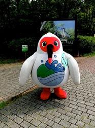新潟県佐渡島の佐渡トキ保護センターのトッキーくん