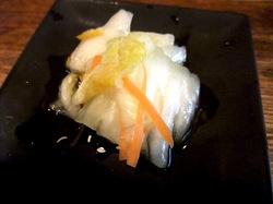鎌倉市手広のこってり魚介系ラーメン風車の付け出し