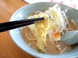 藤沢市善行の札幌ラーメンベアの中ちぢれ麺