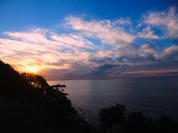 江ノ島頂上からの初日の出