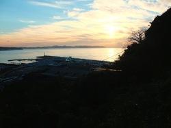 江ノ島ヨットハーバーの初日の出