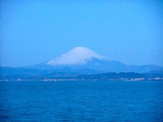 湘南江ノ島の初日の出オススメスポット裏磯からの富士山