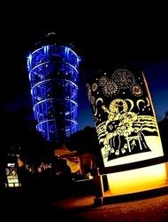 江ノ島サムエル・コッキング苑シーキャンドルライトアップ江の島灯籠