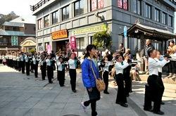 湘南江の島春まつり2014江島神社で鼓笛隊パレード