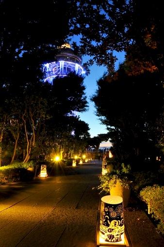 湘南江ノ島シーキャンドルライトアップ江の島灯籠2014