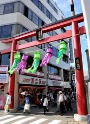 鎌倉鶴岡八幡宮の七夕祭りの小町通り