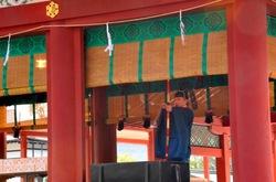 鶴岡八幡宮節分祭の舞殿