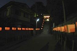 鎌倉荏柄天神社天神社の漫画絵行灯祭り