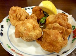 善行の人気海鮮居酒屋ほんまの鶏の唐揚げ