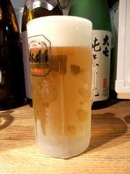 藤沢善行のホルモン焼き元気屋の生ビール