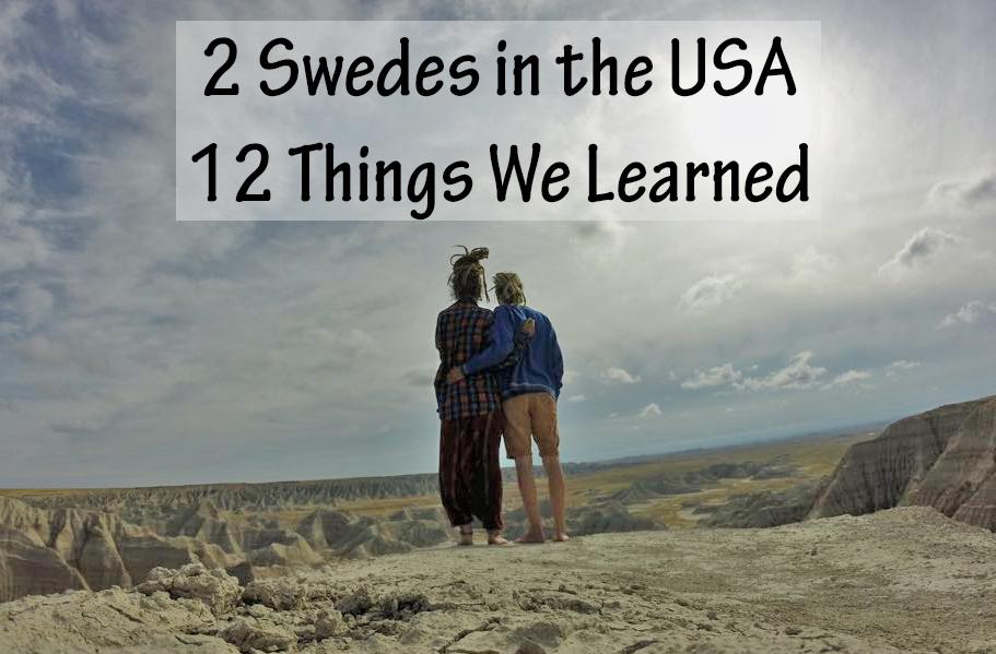 sverige USA Travel Backpacking