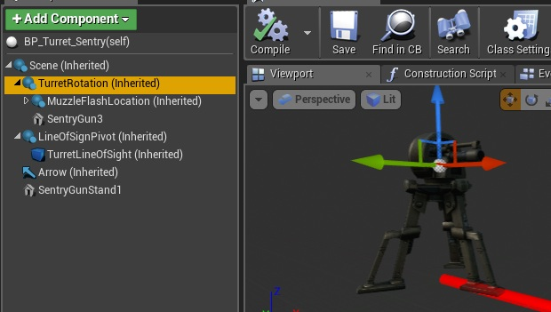 Turret tutorial shooter tutorial add new static mesh component from sentrygunstand1 dont need to attach it to anything malvernweather Image collections