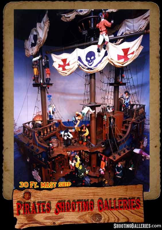 30 Ft. mast pirate ship