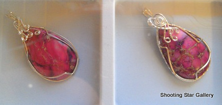 Wire wrapped pendants from Karen