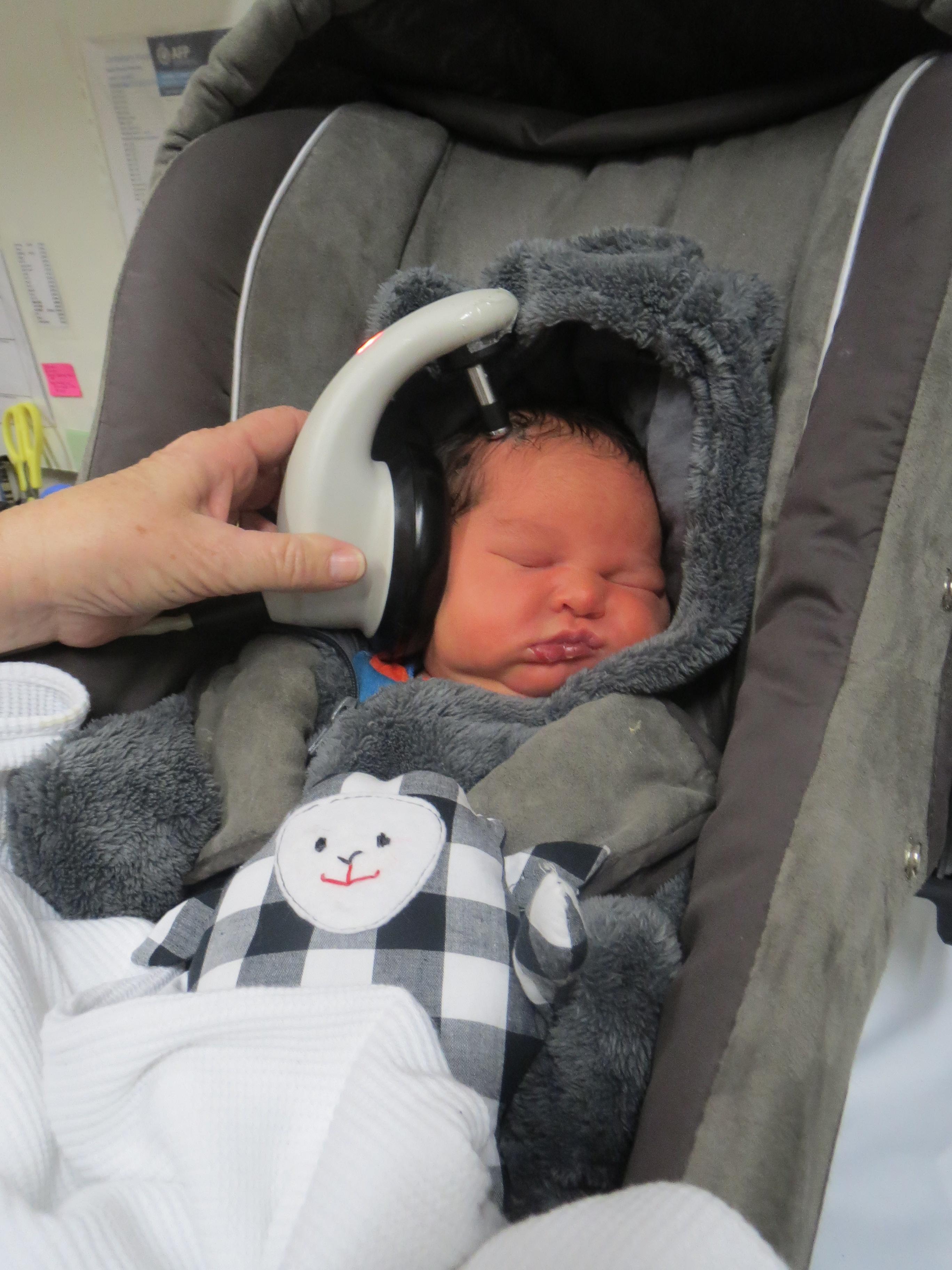 newborn hearing test (all good) for our little bear