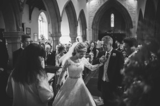 wedding at Billesdon church