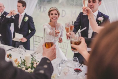 A wedding toast