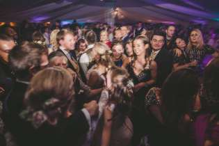 wedding party dance floor