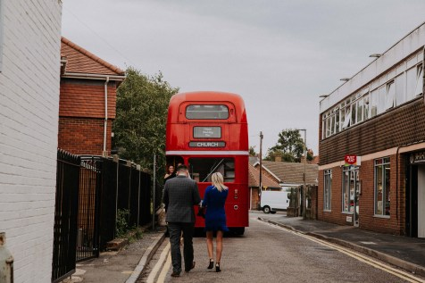 London bus for wedding party