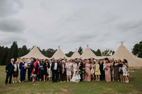 relaxed tipi festival wedding