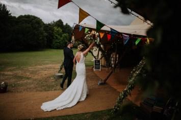 fun outdoor tipi festival wedding