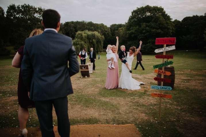 Relaxed festival tipi wedding