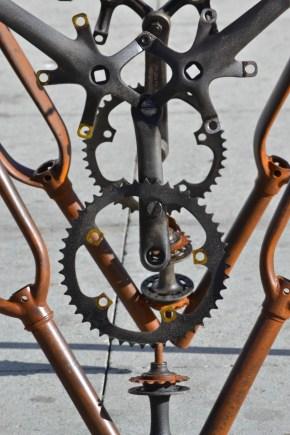 Bicycle gear sculpture. Venice, CA.