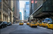 Cabs in New York.