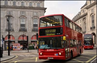Double-decker bus in London.