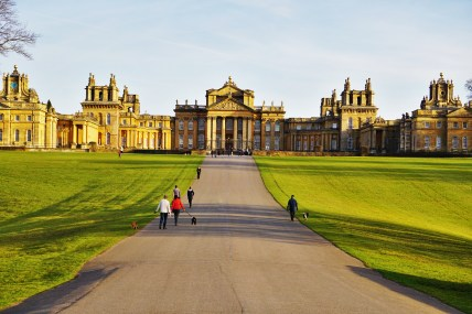 Blenheim Palace glowing in the evening sun...