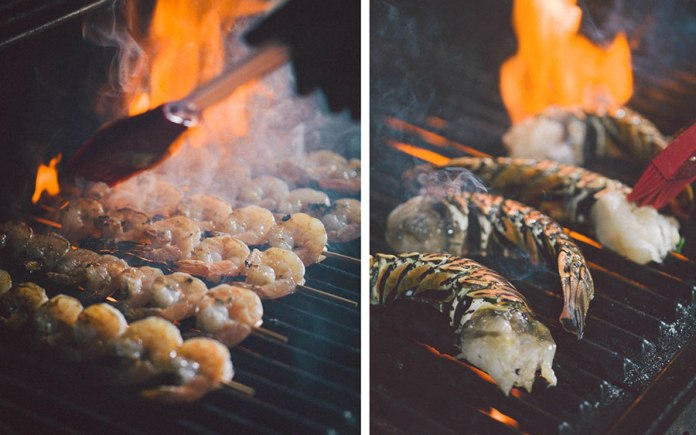 Shrimp and Lobster on the Grill