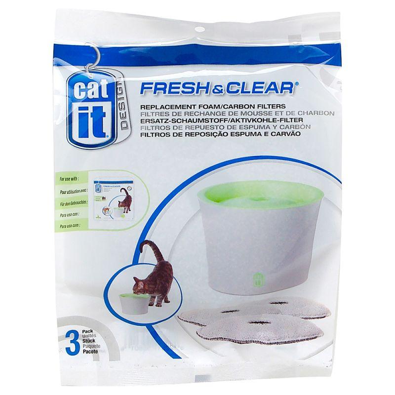 filtres pour l abreuvoir catit design fresh clear 3 l