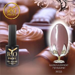 Каучуковый Гель-лак 7 мл №133 Шоколадное пралине