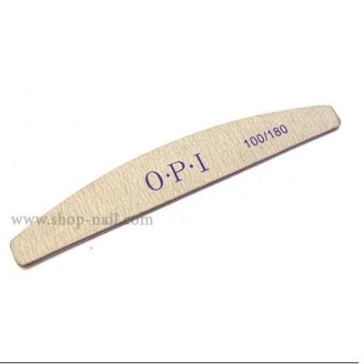 Пилка для ногтей серая, банан OPI 100/180