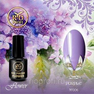 Каучуковый гель-лак Rio Profi серия Flower №6 Purple, 3,5 мл