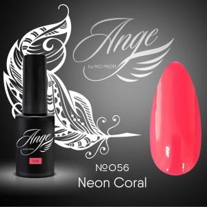 Каучуковый гель-лак Ange by Rio Profi №56 Neon Coral, 7 мл