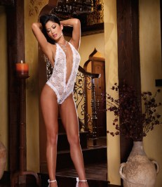 Dreamgirl Seductive Lace Teddy Lingerie