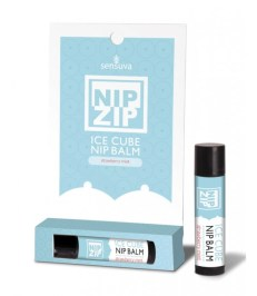 Sensuva Nip Zip Ice Cube Nipple Balm Strawberry Mint - Shop-Naughty.co.uk