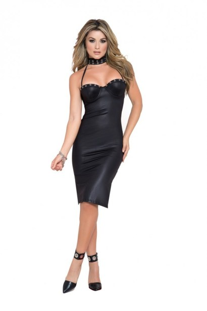 Mapale Dress With Choker Detail - Shop-Naughty.co.uk