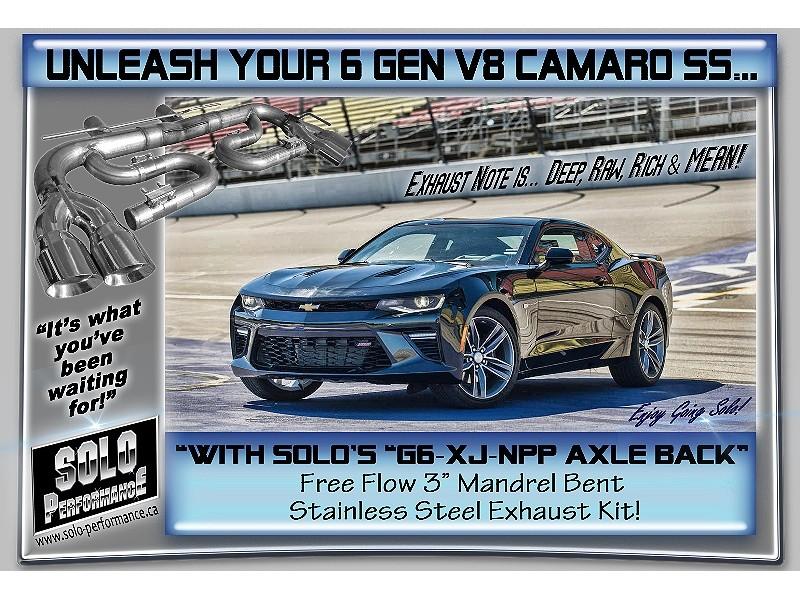 2016 present camaro npp 6g xj npp 3 axle back exhaust kit camaro ss