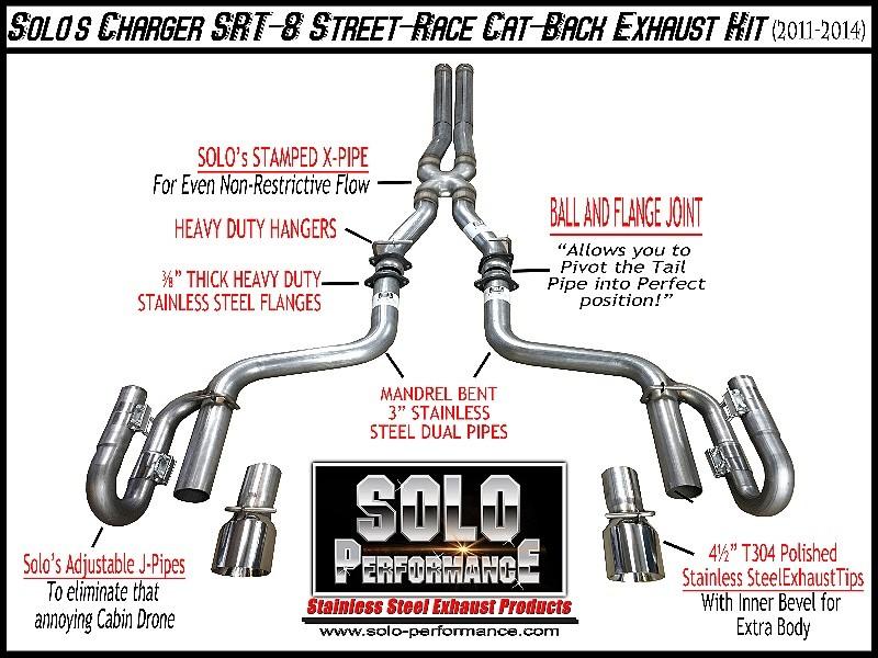 2011 2014 srt 8 charger m300 street race cat back exhaust kit