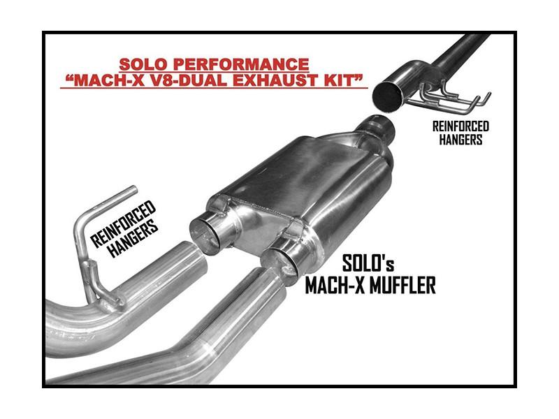 2011 2014 mach x v8 dual cat back exhaust system ford f150 v8
