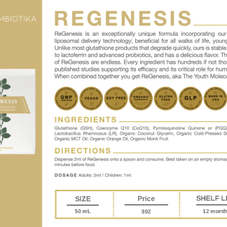 Regenesis - Cymbiotika Premium Organic Herbal Supplements