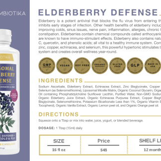 Elderberry Defense - Cymbiotika Premium Organic Herbal Supplements