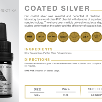 Coated Silver - Cymbiotika Premium Organic Herbal Supplements