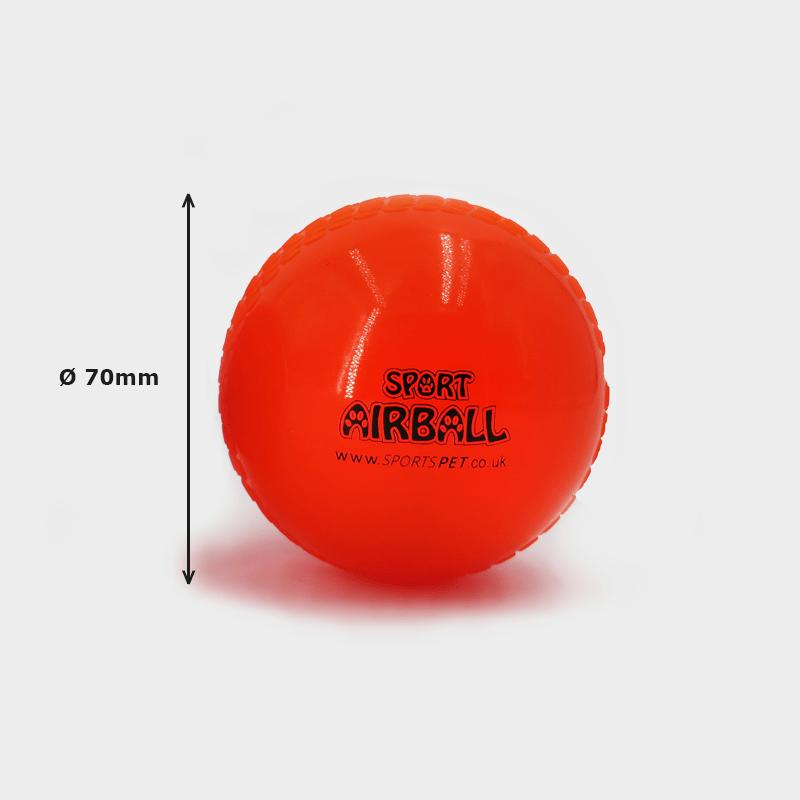 AIRBALL einzeln 70 mm Ø von SPORTSPET in orange