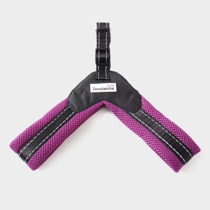 Violettes Boomerang Hundegeschirrs von Doodlebone®